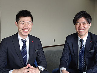 左から修了生 山口氏、小川氏